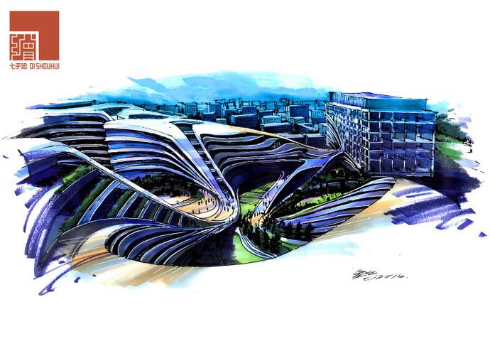 七手绘建筑城规班
